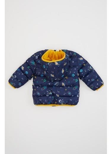 DeFacto Erkek Bebek Kapüşonlu Fermuarlı Mont Lacivert